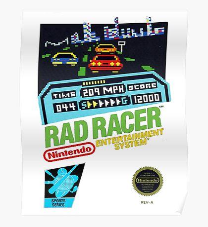 Rad Racer 8-Bit Cover  Poster