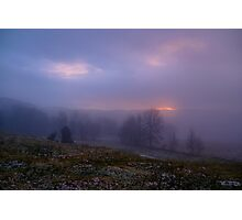 The mysterious foggy sunset Photographic Print