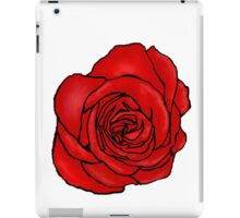 Open Red Rose iPad Case/Skin