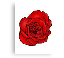 Open Red Rose Canvas Print