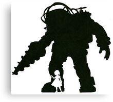 Big Daddy And Little Sister Canvas Print