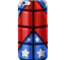 Superheroes - Red, Blue, White Stars iPhone Case/Skin