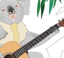 Koala Playing Guitar Sticker