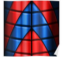 Superheroes - Red and Blue Poster