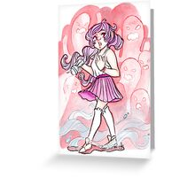 Girl and Ghouls Greeting Card