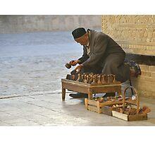 Stamp Seller - Bukhara, Uzbekistan Photographic Print