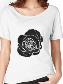 Open Black Rose Women's Relaxed Fit T-Shirt