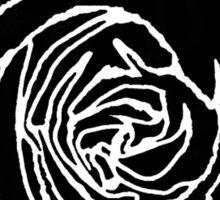 Open Black Rose Sticker