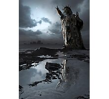 Global Warning - Statue of Liberty Photographic Print