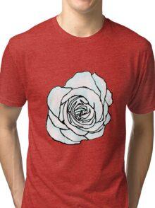 Open White Rose Tri-blend T-Shirt