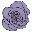 Lavender Open Rose by LastLittleBird