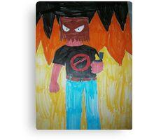 Dick McQueen-fire Canvas Print