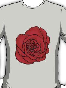 Open Red Rose T-Shirt