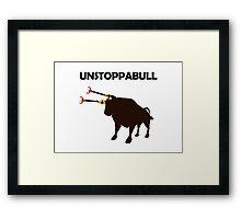 Unstoppabull (Unstoppable Bull) grabber arms Framed Print