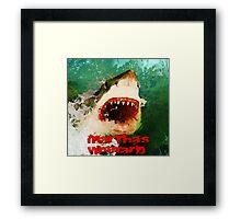 Martha's Vineyard Shark Attack Framed Print
