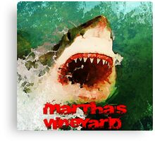 Martha's Vineyard Shark Attack Canvas Print