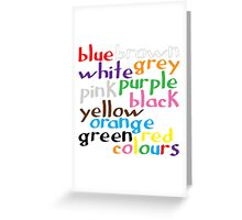 Geek colours Greeting Card