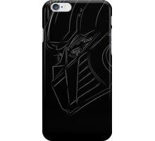 White Optimus Prime Line Art iPhone Case/Skin