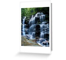 Sylvia Falls, Blue Mountains Greeting Card