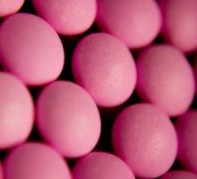 Many pink pills Sticker
