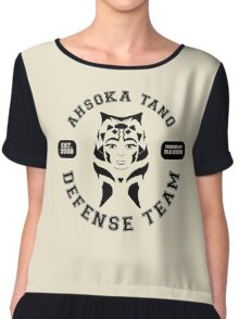 Ahsoka Tano Defense Team (black text) Chiffon Top