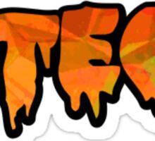 Virginia Tech VT Orange Stone Bubble Text Sticker