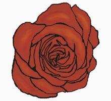 Open Orange Rose Baby Tee