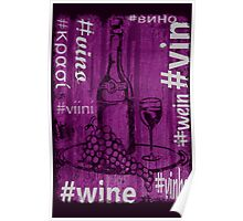 Hashtag Wine Poster