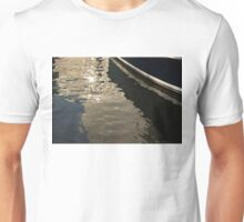 Silky Zigzags and Swirls - a Waterfront Abstract Unisex T-Shirt