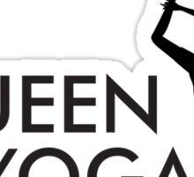 Queen of yoga Sticker