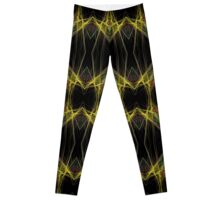 Black Yellow Purple Gold Triangles Leggings