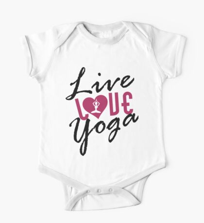 Live, Love, Yoga One Piece - Short Sleeve