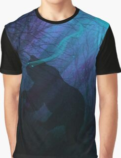 Grizzly Moon: Midnight Mist Graphic T-Shirt