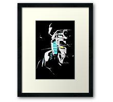Voltron Shadowed Face Framed Print