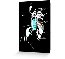 Voltron Shadowed Face Greeting Card