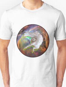 Weird Sleeping Cat In Space T-Shirt
