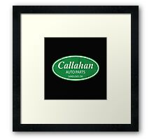 Callahan auto parts distressed Framed Print
