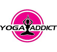 Yoga addict Photographic Print