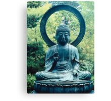 Buddha Sits in a Garden Canvas Print