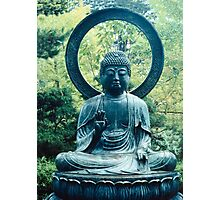 Buddha Sits in a Garden Photographic Print