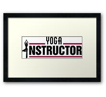 Yoga instructor Framed Print