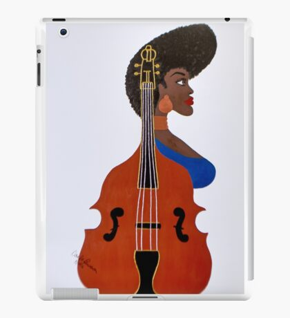 Female Bass Player iPad Case/Skin