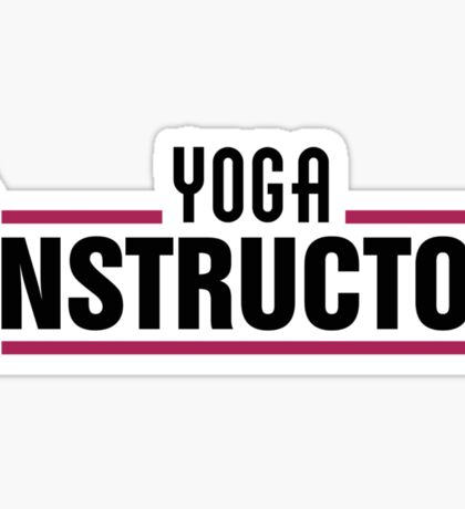 Yoga instructor Sticker