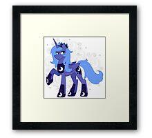 Rule 63 Princess Luna (Prince Artemis) Framed Print
