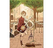 Girl with the guitar Photographic Print