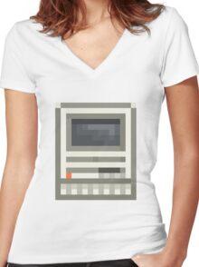 Pixel Mac SE Women's Fitted V-Neck T-Shirt