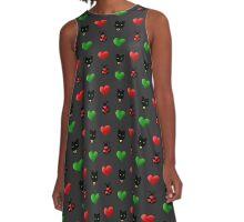 Love Bugs and Smitten Kittens Print A-Line Dress