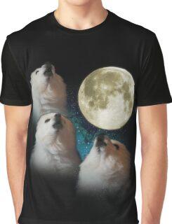 Gabe the Dog - Three Gabe Moon Graphic T-Shirt