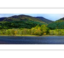 Panorama of Loch Lubnaig in Autumn  Sticker