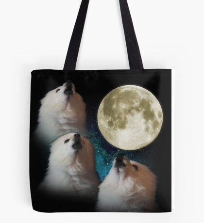 Gabe the Dog - Three Gabe Moon Tote Bag